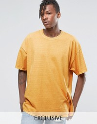 Окрашенная oversize‑футболка Reclaimed Vintage - Горчичный
