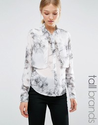 Vero Moda Tall Marble Layered Shirt - Мраморный принт