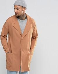 Бежевое трикотажное пальто ASOS - Кэмел
