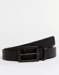 Узкий кожаный ремень Esprit - Черный