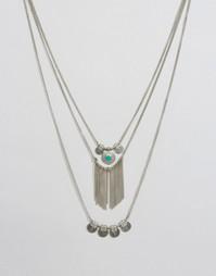 Ярусное ожерелье Pieces Beluna - Серебряный