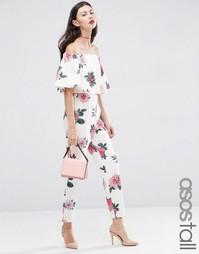 Комбинезон с широкими брюками и открытыми плечами ASOS TALL - Мульти
