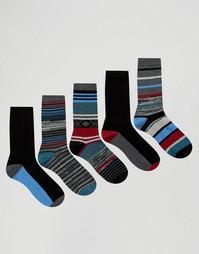 5 пар носков в полоску Urban Eccentric - Мульти
