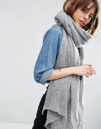 Вязаный oversize-шарф ASOS - Серый