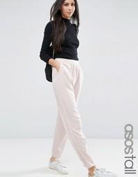 Атласные гаремные брюки с заниженным шаговым швом ASOS TALL - Телесный