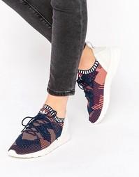 Розовые вязаные кроссовки с принтом adidas Originals Zx Flux