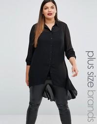 Удлиненная рубашка из полупрозрачного кружева Lovedrobe - Черный