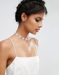 Короткое жемчужное ожерелье ASOS WEDDING - Кремовый