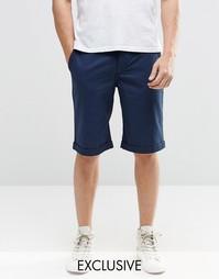 Темно-синие шорты чиносы суперзауженного кроя Brooklyn Supply Co