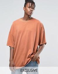 Окрашенная oversize‑футболка Reclaimed Vintage - Красно-бурый