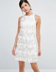 Цельнокройное платье с пайетками и спинкой-борцовкой Little Mistress