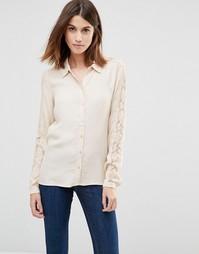 Рубашка с кружевными рукавами Vila - Песок