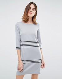 Vila Stripe Shift Dress - Серая основа