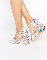 Туфли на каблуке с цветочным дизайном и острым носом Daisy Street