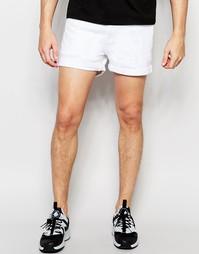 Белые джинсовые шорты слим ASOS - Белый