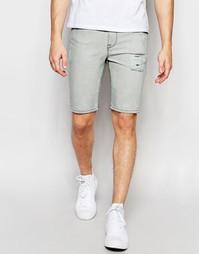 Серые супероблегающие джинсовые шорты ASOS - Светло-серый