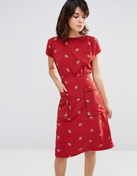 Платье с принтом клубники и карманами Trollied Dolly Pocket Rocket