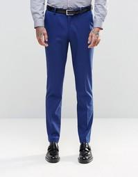 Синие зауженные брюки ASOS - Королевский синий