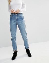 Винтажные джинсы с высокой талией Noisy May Donna - Синий