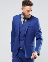 Синий пиджак суперзауженного кроя ASOS - Королевский синий