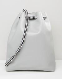 Рюкзак с затягивающимся шнурком ASOS - Серый