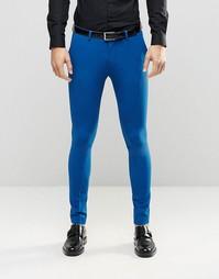 Синие супероблегающие брюки ASOS - Синий
