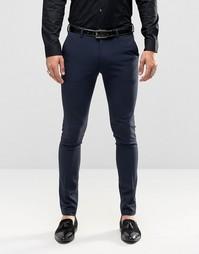 Темно-синие брюки скинни под смокинг ASOS - Темно-синий