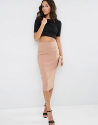 Длинная юбка-карандаш ASOS - Кэмел
