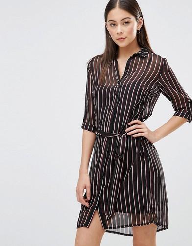 Платье-рубашка в тонкую полоску AX Paris - Мульти