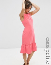 Платье с оборкой на подоле ASOS PETITE - Коралловый