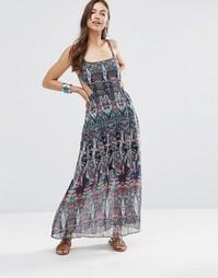 Платье макси с вырезами и принтом Diya - Мульти