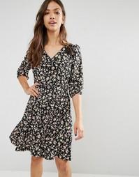 Платье с цветочным принтом Trollied Dolly Lace For Life - Черный