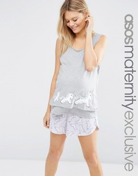 Пижама с единорогами для беременных ASOS Maternity