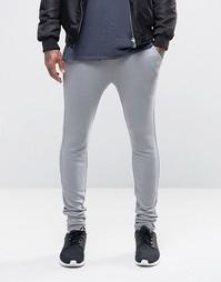 ASOS Super Skinny Joggers In Grey - Слоновий серый