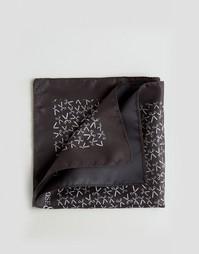 Платок для нагрудного кармана с принтом ножниц Noose & Monkey - Черный