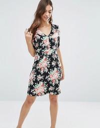 Платье с цветочным принтом Trollied Dolly Time For Tea - Черный