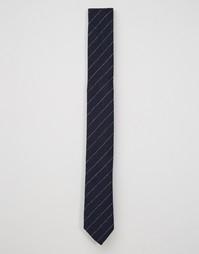 Узкий шерстяной галстук Noose & Monkey - Темно-синий