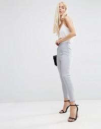 Укороченные зауженные брюки ASOS - Серый