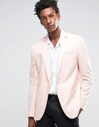 Розовый облегающий блейзер ASOS - Розовый