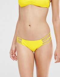 Трусики бикини с лямками по бокам Boohoo - Желтый