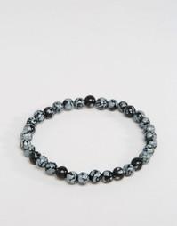 Серый браслет из бусин Jack & Jones - Серый