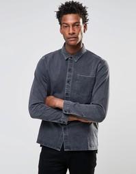 Серая джинсовая рубашка с карманом Levis Line 8 - Grey worn in