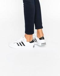 Черно-белые кроссовки adidas Originals Court Vantage - Белый
