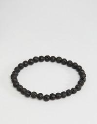 Черный браслет из бусин Jack & Jones - Черный