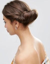 Винтажная базовая заколка-валик для волос ASOS - Коричневый