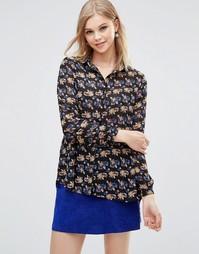 Свободная блузка с цветочным принтом Poppy Lux Reanne