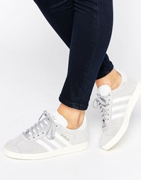 Серые замшевые кроссовки adidas Originals Gazelle - Серый