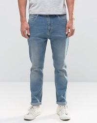 Синие джинсы слим в винтажном стиле ASOS - Умеренный синий