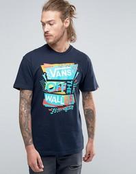 Синяя футболка с принтом Vans VWBZJEY - Синий
