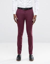 Суперзауженные брюки ягодного цвета ASOS - Фиолетовый